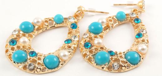 Ażurowe kolczyki orientalne